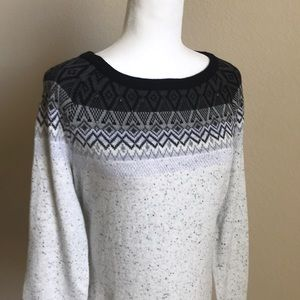 Karen Scott Black & Gray Sweater NEW NWT